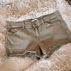 Army green 7 for all mankind Jean shorts